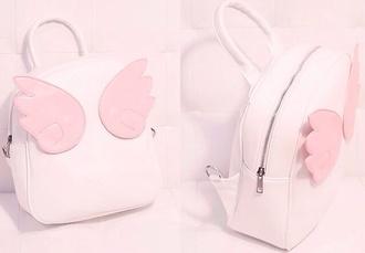bag backpack knapsack bookbag cute petite light pink pink pastel pastel pink lovely kawaii sweet lolita sweetheart wings angel wings angel angels wings soft soft grunge phone cover