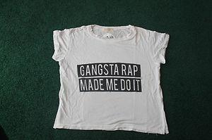 Brandy Melville Gangsta Rap Made Me Do It Crop Shirt | eBay