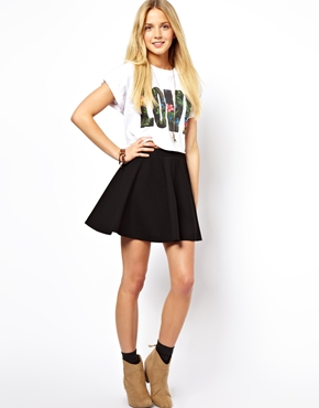 ASOS | ASOS Skater Skirt in Ponte at ASOS