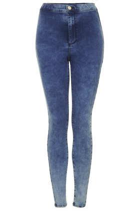 MOTO Mottled Bleach Joni Jeans - Topshop