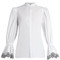 Broderie-anglaise trimmed cotton blouse
