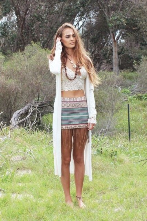 skirt bodycon skirt vintage hippie retro top cardigan jewels