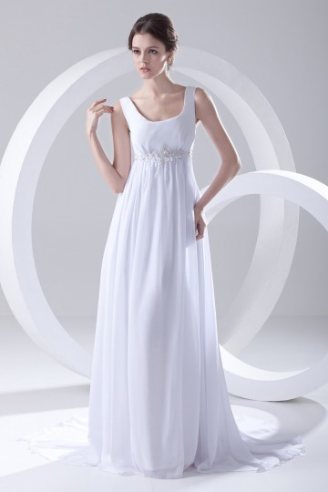 Sweep train White Modern Empire Beach Wedding gown for spring [ZHY240]- US$ 180.99 - PersunMall.com