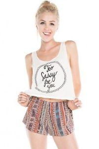 Brandy Melville TOO Sassy FOR YOU Tank | eBay