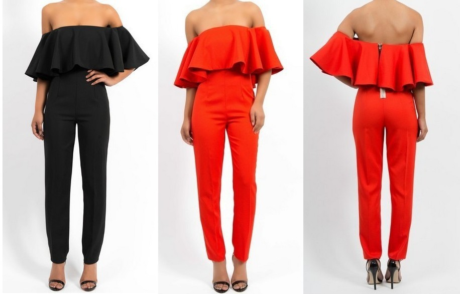Aliexpress.com : Buy Free shipping 2014 NEW ARRIVALS Exaggerated fashion flounced neck piece pants fit from Reliable pants bike suppliers on ED FASHION