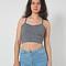 Cotton spandex elastic crop tank | american apparel