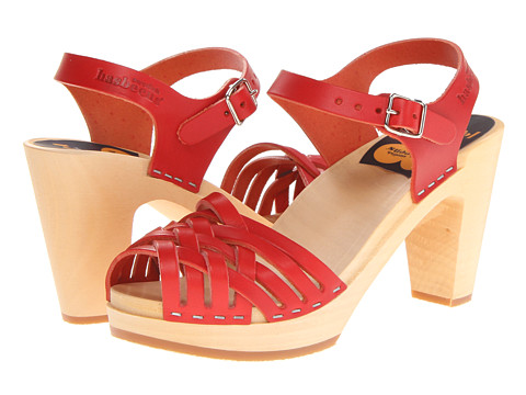 Swedish Hasbeens Braided Sky High Red - Zappos.com Free Shipping BOTH Ways