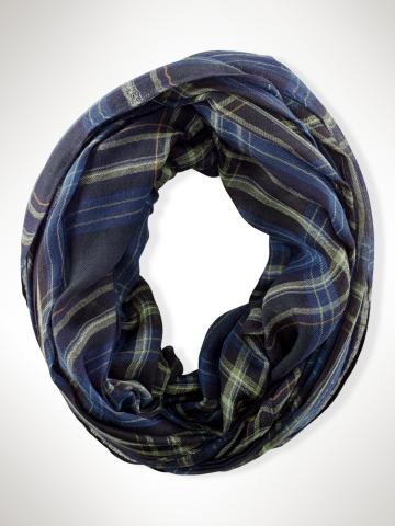 Tartan Infinity Scarf - Hats, Gloves & Scarves  Women - RalphLauren.com