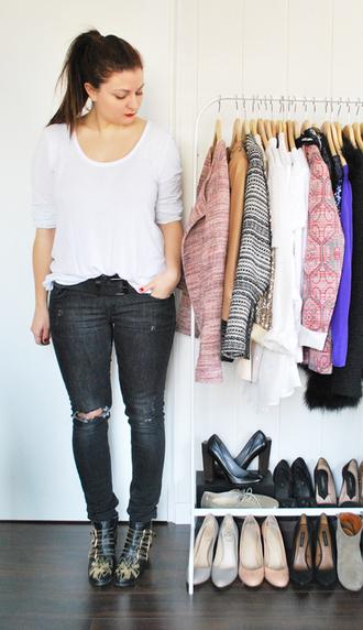 black jeans blakc destroy a certain romance jeans