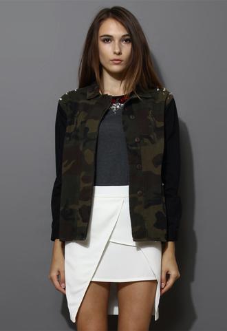 jacket rivet camouflage military style