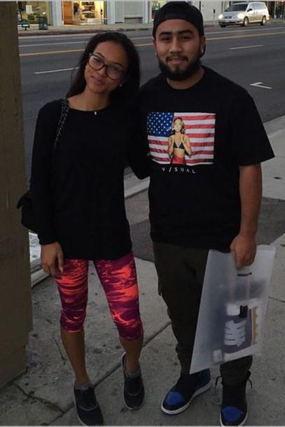 leggings karrueche streetstyle t-shirt