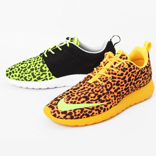 Nike Rosherun FB Orange Leopard Sz 6 12 580573 838 Roshe Run NSW   eBay