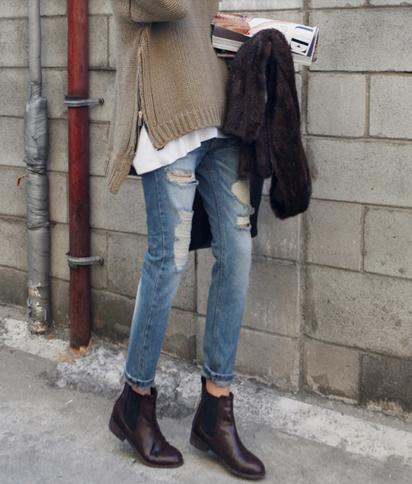 jeans boyfriend jeans skinny jeans loose jeans shoes sweater