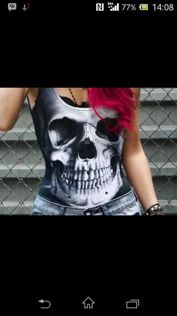 t-shirt skull t-shirt