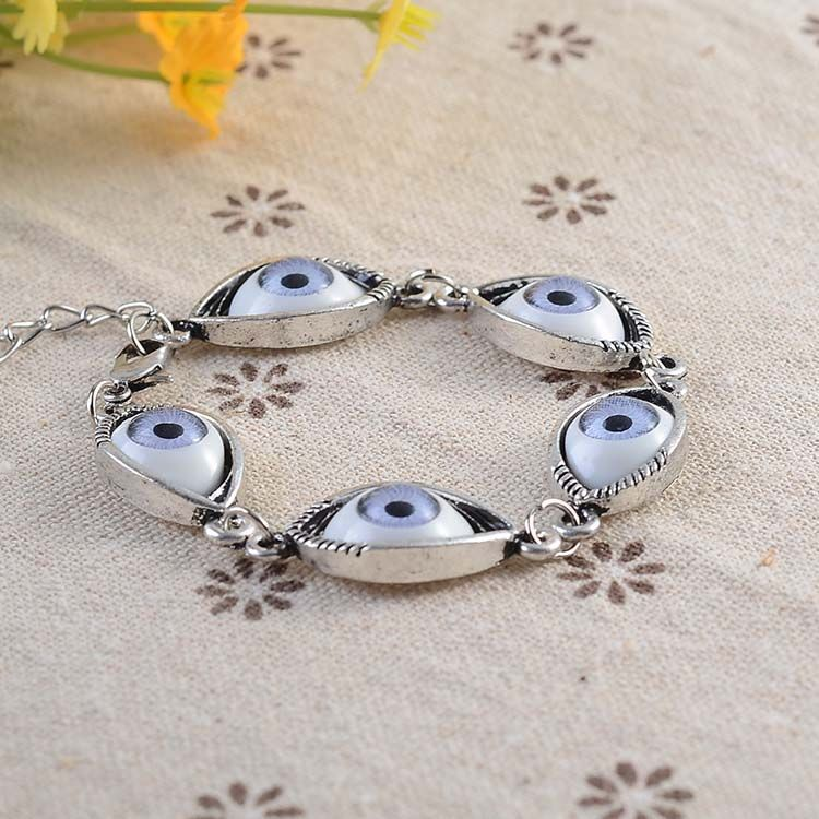 Min.order is $15 (mix order) European and American trade popular personalized bracelet angel eyes factory direct free shipping-in Special Store from Jewelry on Aliexpress.com