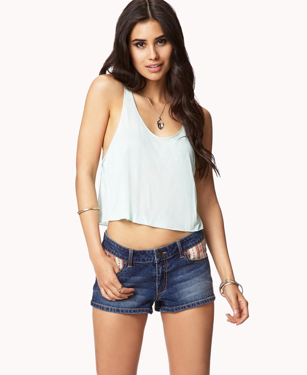 tank top blue top light blue clothes forever 21