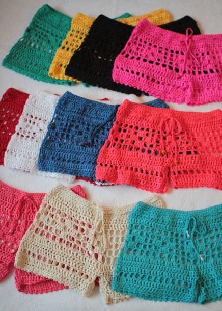 shorts chrochet swimwear