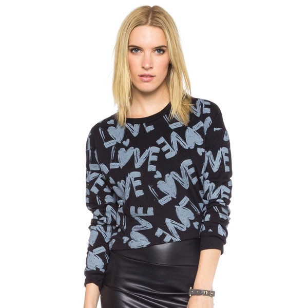 shirt me more top blue navy light heart makeup table vanity row dress to kill chic sweater mini crop