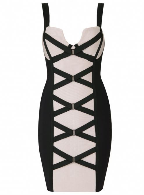 Sexy Suspenders Halter Slim Bandage Dress H480$109