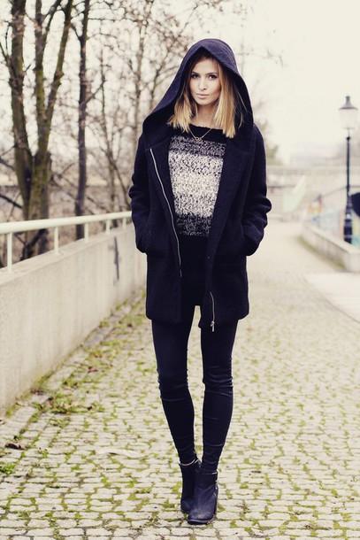 beauty fashion shopping blogger winter sweater coat