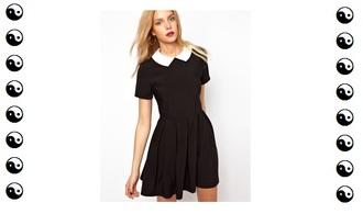 dress pretty back to school school dress uniform model girl fashion style clothes shop school uniform idk black white black and white hazy