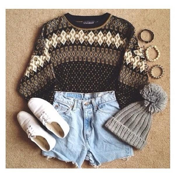 sweater vintage summer shoes hat