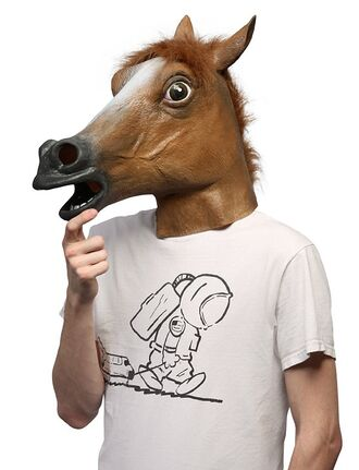 fur halloween halloween costume costume horse mask hat fall outfits cool youtuber funny t-shirt kfashion
