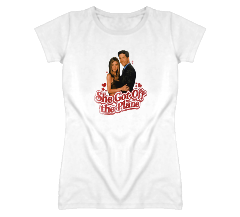She Got Off The Plane Friends Ross And Rachel T Shirt