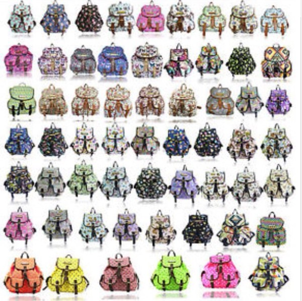 bag womens girls printed backpack rucksacks