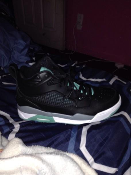 shoes mint color jordans