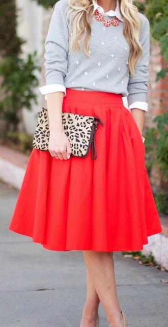vintage old school 50's skirt grease 50s style sweater