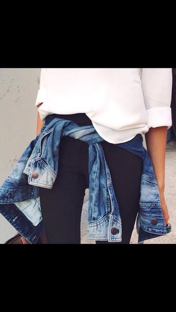 jacket jeans acid wash jeans