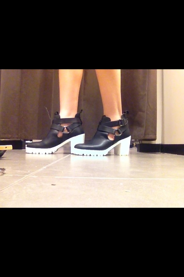 shoes boots black zara