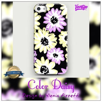 jewels iphone case iphone fashion flowered shorts colorful yellow pink dress girly vintage daisy lowe