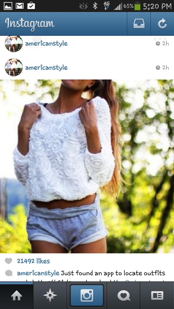 shirt white nice roses