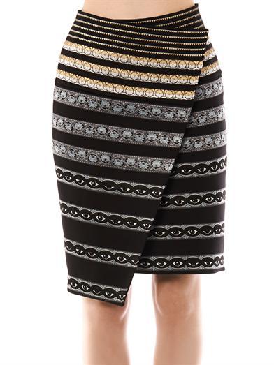 Ribbon-embroidered neoprene skirt | Kenzo | MATCHESFASHION.COM