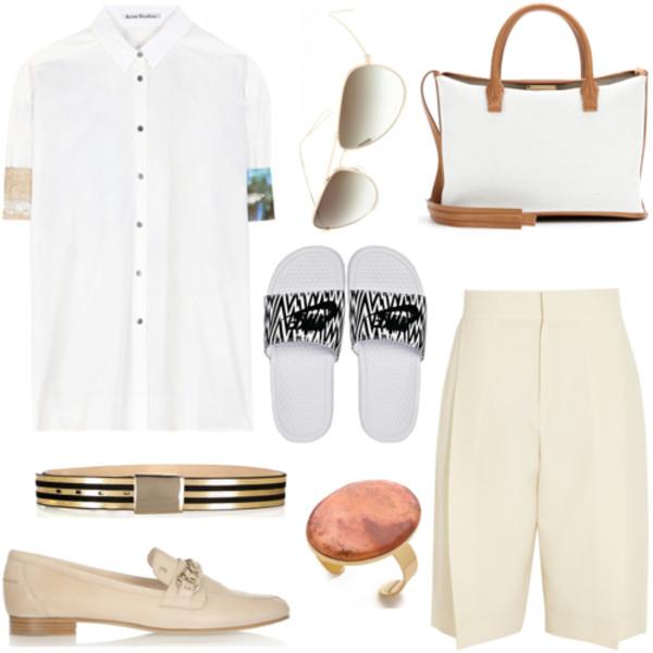 northern light shirt sunglasses bag belt shoes jewels