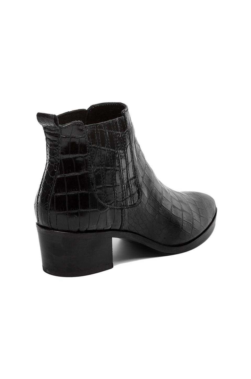 MODERN VICE COLLECTION Handler Bootie in Black Embossed Croc | REVOLVE