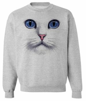 Cat Face  sweatshirt - SKIP N' WHISTLE  NEW ORLEANS