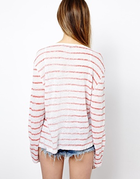 French Connection | French Connection Striped T-Shirt with On The Road Again Print at ASOS