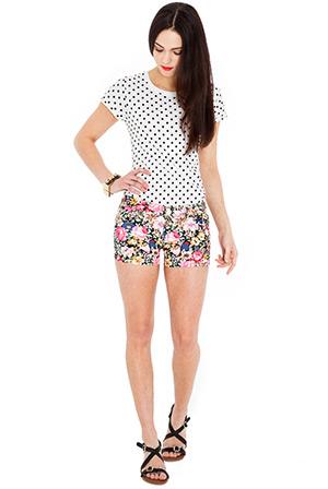 Summer Floral Print Hotpants
