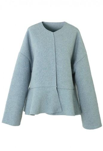 Blue Peplum Coat - Retro, Indie and Unique Fashion