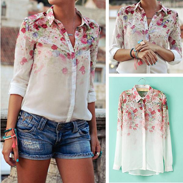 blouse flowers