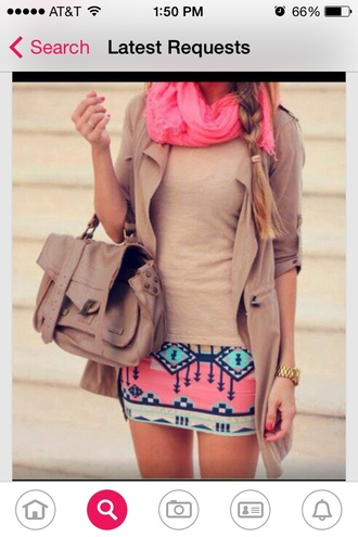 scarf bright pink