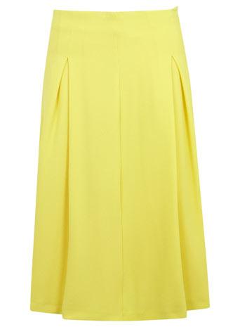 Yellow A Line Mid Length Skirt - Miss Selfridge