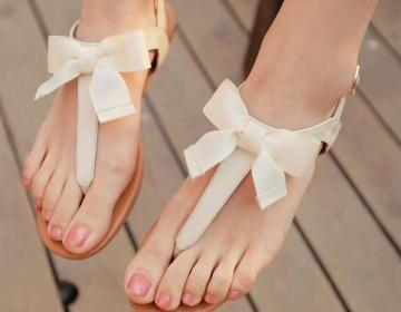 Bowknot Is Flat Sandals on Luulla
