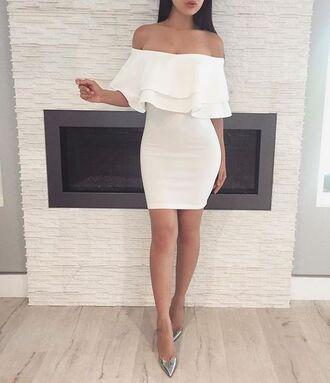 dress strapless dress graduation dress white dress