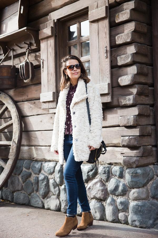 collage vintage coat shirt jeans shoes bag