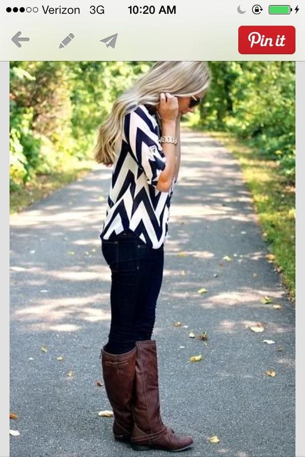 blouse chevron black