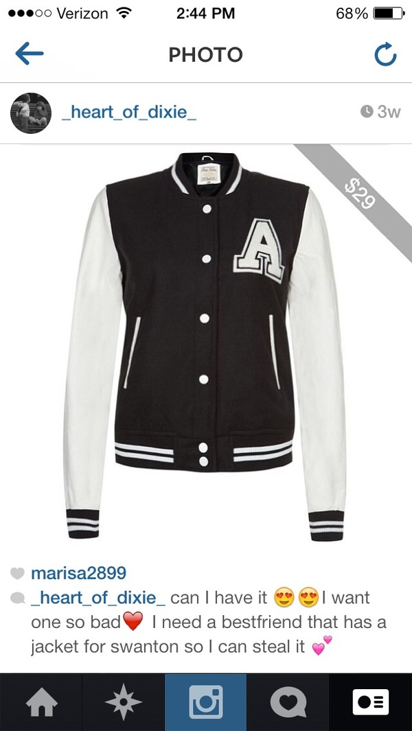 jacket black and white varsity jacket one in a million cute warm